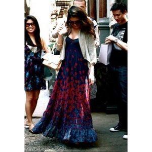 Free People Boho Flowy Floral Maxi Dress